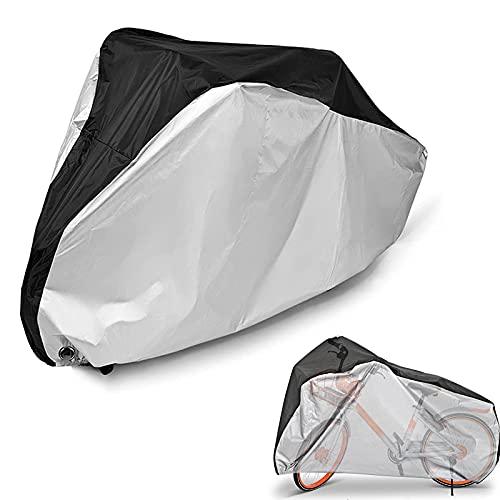 QIQIQ Bike Cover Outdoor Waterproof Foldable Bike Storage Bag with Anti-Theft Lock Holes for Mountain Bike and Road Bike Outdoor Storage