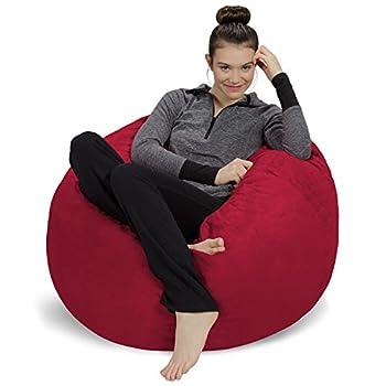 Sofa Sack - Plush Ultra Soft Bean Bag Chair - Memory Foam Bean Bag Chair with Microsuede Cover - Stuffed Foam Filled Furniture and Accessories for Dorm Room - Cinnabar 3