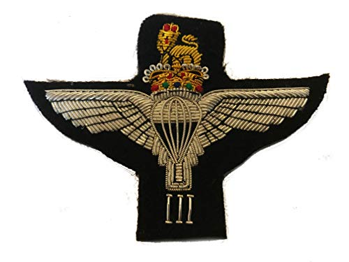 3rd bn Paracaídas Regimiento Militar Blazer Badge Wire Bullion Badge