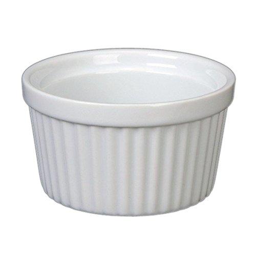 Holst Porcelana RA 2198de Pasteles, Molde para soufflé y ramequines de 6cm Color Blanco, 6x 6x 3.6cm