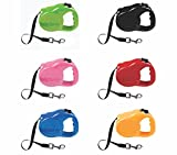 Dog Leash Retractable 5m Heavy Duty Extendable Leads Strong Nylon Tape <span class='highlight'>Traction</span> <span class='highlight'>Rope</span> For Breed Dogs Pet Anti-Slip One-Handed Brake Pause Lock 360° Tangle-Free Moving 16.5ft Long Assorted Colours