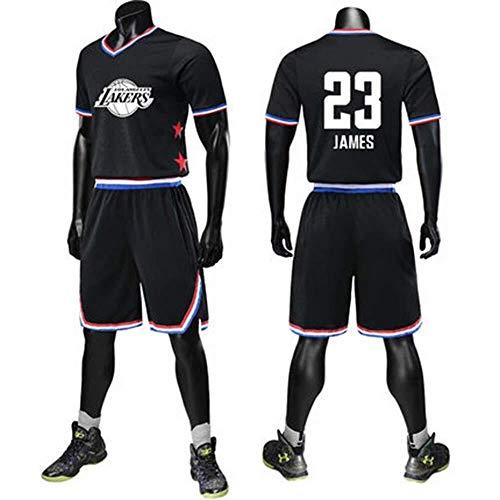LLSDLS Camiseta de la NBA 2019 All-Star Fan Jersey Baloncesto Traje James Harden Curry Irving Sports Manga Corta Camiseta (Color : Black#23, Size : 5XL/190)