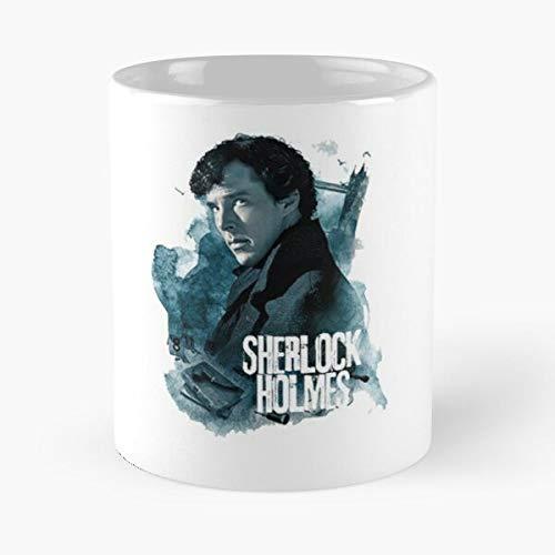 everyonic Arthur Conan Series Sherlock Film Detective Doyle Tv Holmes Cinema BBC Movie Best Mug hält Hand 11oz aus weißer Marmorkeramik