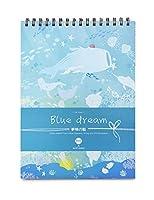 ドローイングパッドA4アーティストドローイングブック耐久性のある酸を含まないスケッチ用紙、子供と大人に最適-A4-青い夢1