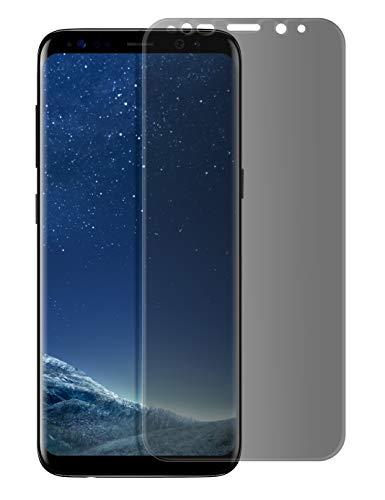 MyGadget Pellicola Privacy per Samsung Galaxy S8 Plus – Vetro temperato Full 9H Screen Protector curved - Anti Spy Senza Bolle - Protezione Schermo Nero