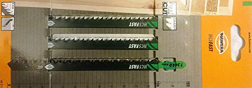 Hawera-Probst, Hawera Stichsägeblatt 4x125 mm HCS T 334 D WOOD, Clean&Fast Cut Holz, Einnockenschaft, 3er-Pack