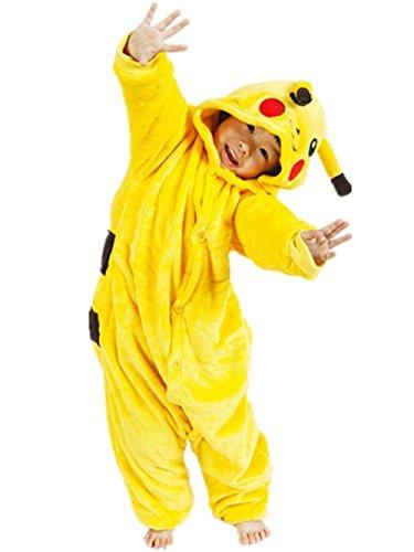 Taglia 8-9 anni - Pigiama o Costume - Travestimento - Carnevale - Halloween - Pikachu - Pokemon - Colore Giallo - Unisex - Bambini