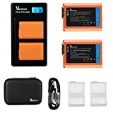Vemico NP-FW50 Battery Charger Set 2 X 1200mAh Replacement Batteries with...