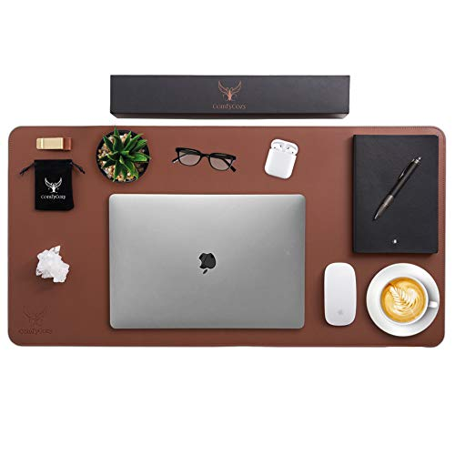 ComfyCozy Leather Desk Pad and P...