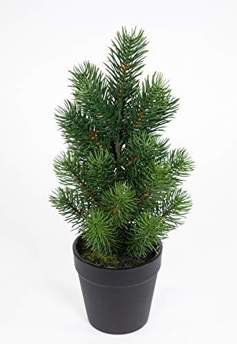 Mini Tannenbaum im Topf 32cm DP künstlicher Weihnachtsbaum Kunststoff 100% PE Tanne Spritzguss