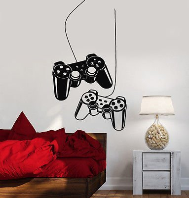 Joystick Wall Decal Gamer Video Game Play Room Kids