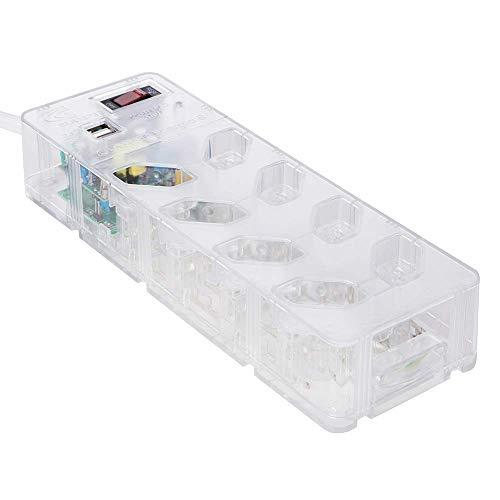 iCLAMPER Energia 8 + USB Transparente