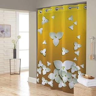 Right Canvas Yellow/White 180cm x 200cm Shower Curtain - RG138NPIC00119