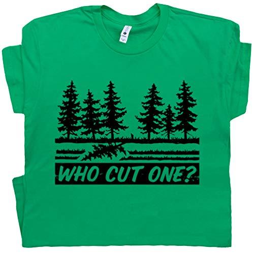 XL - Who Cut One T Shirt Old Funny Fart Loading Tee I Just Farted Rude Dad Joke Bathroom Humor Green