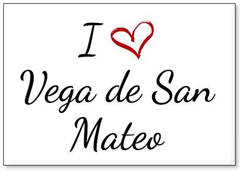 Mundus Souvenirs - Amo Vega de San Mateo, Imán para Nevera (diseño 1)