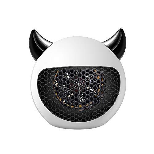 LGDD Calentador de Espacio pequeño, 600 W portátil, silencioso, con termostato, protección contra sobrecalentamiento e inclinación, Adecuado para Oficina, hogar, Piso