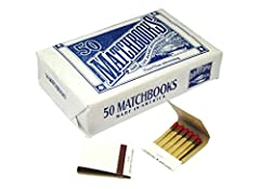 50 Matchbooks of 20 matches 1000 total large matches Wholesale Bulk Lot Made in America