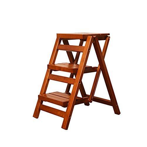 N / A Startseite Holzklappleiter Stuhl Tragbare Pflanzen Stehen Flowerpot Leiter Stuhl