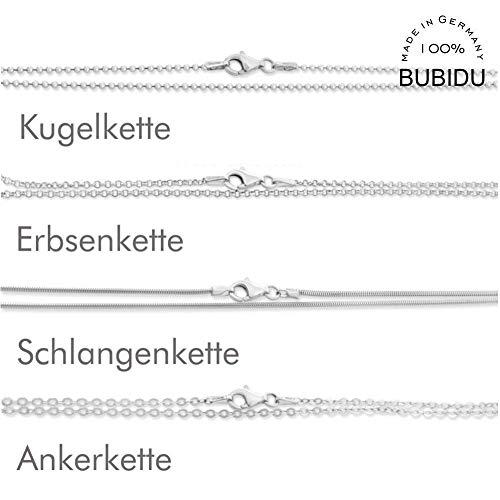 Silberkette Damen 925 Silber 38cm 42cm 45cm 50cm 60cm 70cm Kette ohne Anhänger Sterling Silber Kugelkette Erbsenkette Ankerkette Schlangenkette Einzelne Silberketten