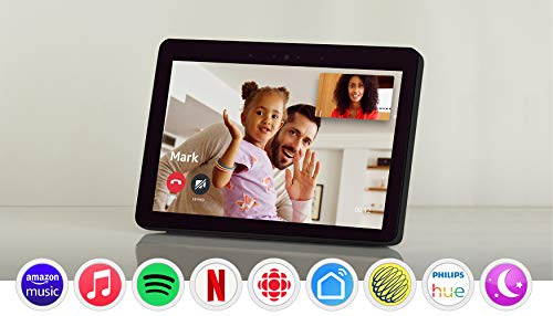 """Echo Show (2nd Gen) – Premium sound and a vibrant 10.1"""" HD screen - Charcoal (Electronics)"""