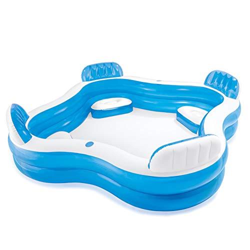 ZYFWBDZ Piscina Hinchable Cuadrada, con Asientos y portavasos, Piscina Infantil para niños, Piscina, bañera