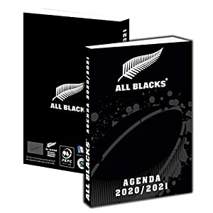 Agenda scolaire All Blacks 2020 - 2021 - Collection officielle rugby 9