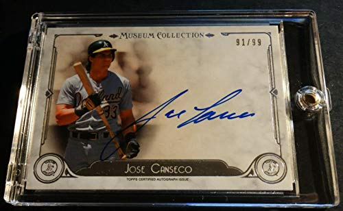 2014 JOSE CANSECO TOPPS MUSEUM COLLECTION AUTO AUTOGRAPH AA-JC 91/99 (803)