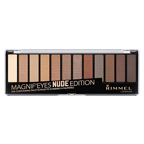 Rimmel Magnif'eyes Eyeshadow Palette, 001 Nude Edition, Pack of 1