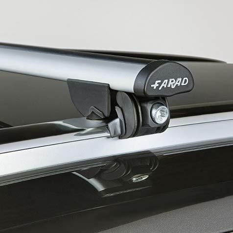 FARAD Dachträger Mercedes C-Klasse Kombi (W205) ab 2014 mit aufliegender Dachreling Aluminium-Tragrohre