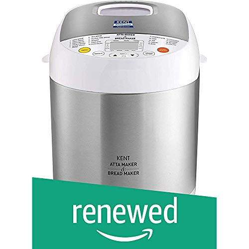 (Renewed) KENT Atta and Bread Maker 550-Watt (Steel Grey), Standard (16010-cr)