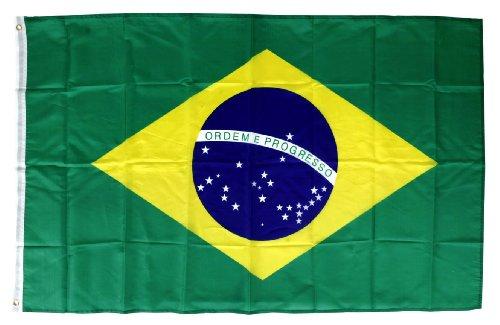 Fahne Brasilien mit Ösen Flagge 150x90 cm Fanartikel Brasil Nationalmannschaft Fußball WM