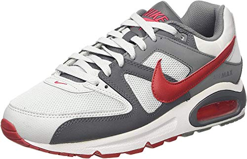 Nike Air MAX Command, Zapatillas de Running Hombre, Gris (Pure Platinum/Gym Red/Dk Grey/Cool Grey/White 049), 41 EU