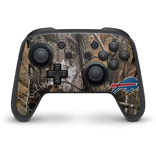 Skinit Decal Gaming Skin Compatible with Nintendo Switch Pro Controller - Officially Licensed NFL Buffalo Bills Realtree AP Camo Design