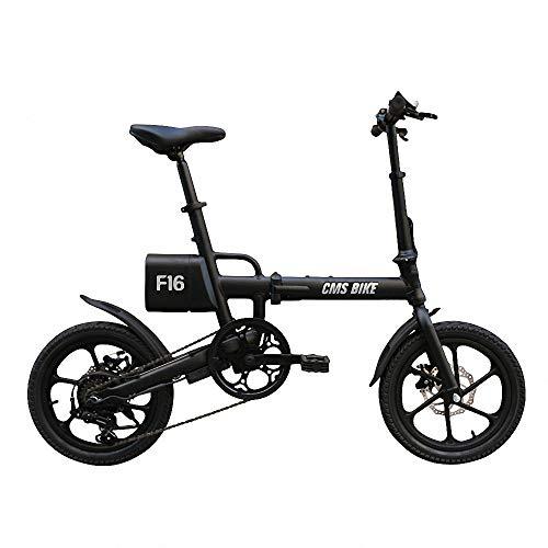Elektrische fiets met vouwsnelheid van 16 inch, elektrische fiets, afneembare lithium-ion-batterij met grote capaciteit, veilig instelbaar, draagbaar voor het fietsen, drie gebruiksmodi.