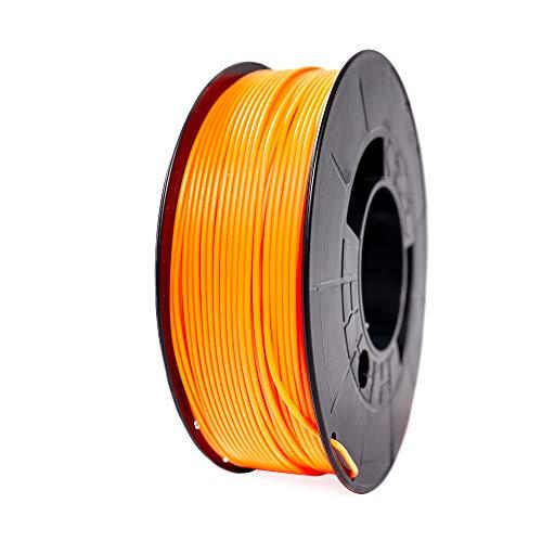 Winkle Filamento PLA HD, 1.75 mm, Naranja Fluorescente, Filamento para Impresión 3D, Bobina 1000 gr