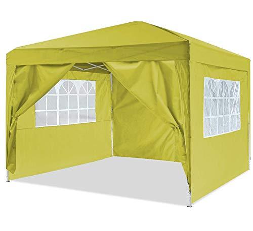 Oppikle Gazebo Pieghevole da 3m x 3m,Tenda da Giardino Pieghevole/Retrattile, Impermeabile, Rivestimento in PVC,Gazebo per Feste, Tour, Picnic