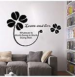 sxh28185171 Pegatinas de Pared decoración para el hogar Sala de Estar Aprendizaje Sitio Web Citas Inspiradoras Cita de Pared Arte Mural Pegatinas de Pared decoración de la Oficina en el hogar55X86cm