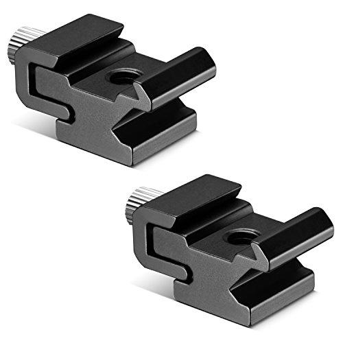 Neewer® schwarz Metall Zubehörschuh Blitz Stativadapter mit 1/4-Zoll -20 Stativschraube (2er Packung)