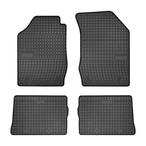 DBS Tapis de Voiture - sur Mesure pour Clio 3 (2005-2014) - 4 pièces - Tapis de Sol antidérapant pour Automobile - Souple - 100% Caoutchouc