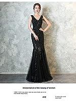 ドレス パーティードレス ウェディングドレス カラードレス ステージドレス マーメイドドレス カクテルドレス フィッシュテール Aライン レディース aruka_pamela M ブラック
