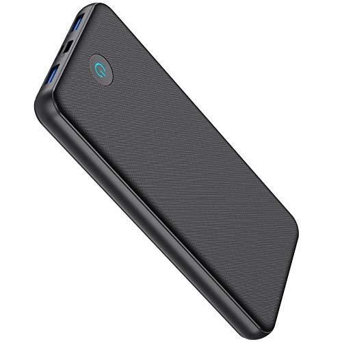 Batería Externa 26800mAh, [ 18W PD & QC 3.0 Carga Rápida] Power Bank con 3 Salidas y 2 Entradas Tipo C [ Intelligent Controlling IC ] Cargador Portátil para Smartphones Tabletas y Más (Black)