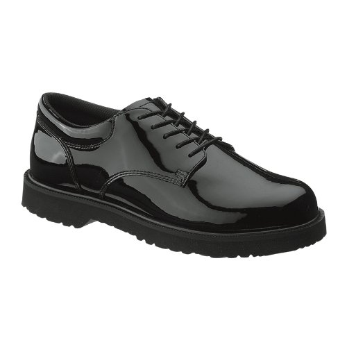Bates Men's High Gloss Duty Oxford, Black, 11 M US