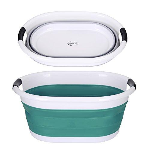 yoouu Wäschekorb Faltbar - Klappbarer & Wasserdichter Premium Waschkorb - 62,5 x 45,0 x 27,0 cm (LxBxH) - Grün