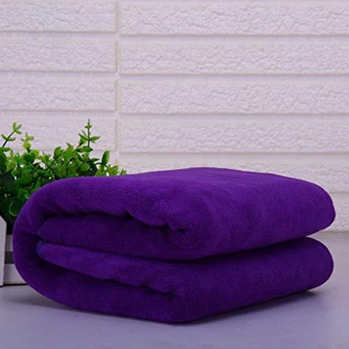 DOROCH Salón de Belleza del Hotel Toalla de baño Toalla de Cara Masaje Grande Gruesa Toalla de Microfibra for Salones de Belleza Toallas de Secado en Estufa (Color : Dark Purple, Size : 70x140cm)