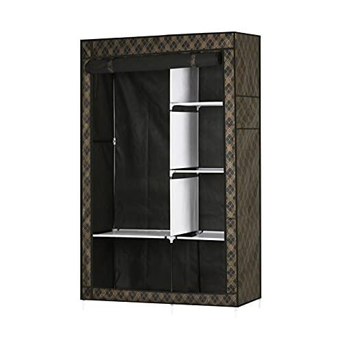 Trintion 170 x 105 x 45cm Faltschrank Stoffkleiderschrank Kleiderschrank Aufbewahrung für Kleidung Kleiderständer faltbar Ankleidezimmer Schlafzimmer Vintage Style