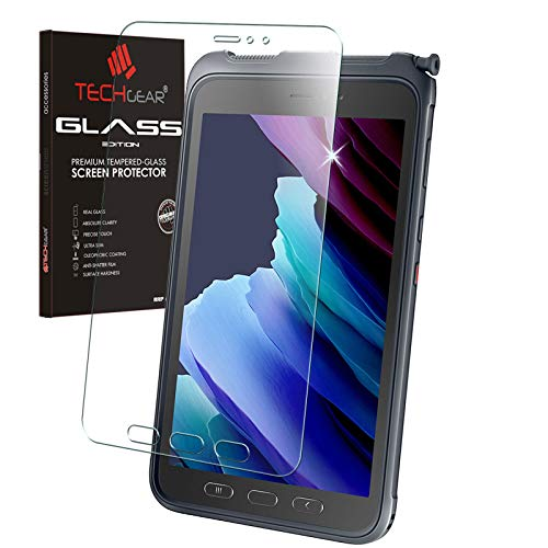 TECHGEAR Panzerglas Galaxy Tab Active 3 8 [SM-T570 / T575 / T577] Panzerglas Bildschirmschutz Folie aus gehärtetem Glas [9H Festigkeit] [Crystal Clarity] kompatible mit Samsung Galaxy Tab Active 3 8.0 Zoll