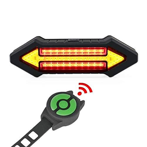 XIAOHUA-UK Luz Trasera de Bicicleta, Control Remoto inalámbrico Inteligente, Carga USB Luz Trasera de Bicicleta Impermeable para Ciclismo al Aire Libre