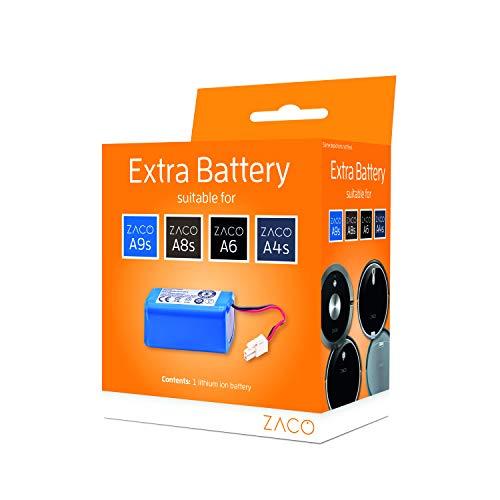 Batería Original de Iones de Litio Zaco, Serie A, Compatible con Robot Aspirador Zaco A4s, A6, A8s, A9s