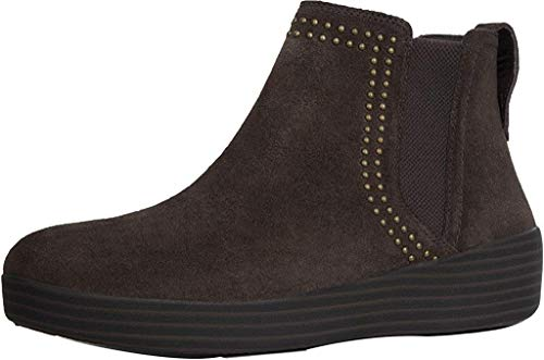FitFlop Womens Superchelsea Boot with Studs, Chocolate, US 6