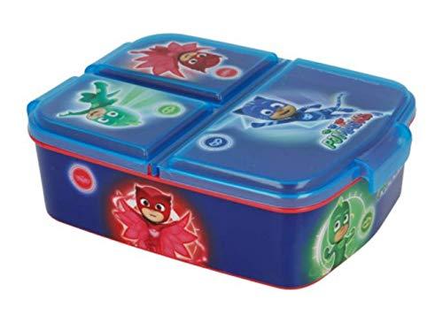 Theonoi Kinder Brotdose / Lunchbox / Sandwichbox wählbar: Frozen PJ Masks Spiderman Avengers - Mickey – Paw aus Kunststoff BPA frei - tolles Geschenk für Kinder (PJ Masks)